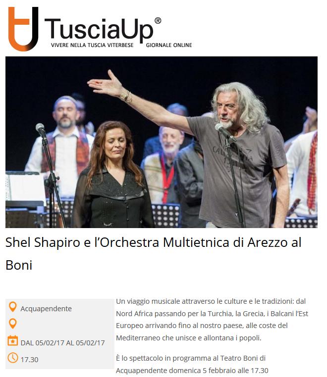 170202-Shel Shapiro e l'Orchestra Multietnica di Arezzo al Boni - Tuscia Up - Il portale di informazione di Viterbo e provinciaTuscia Up – Il portale di informazione di Viterbo e provincia