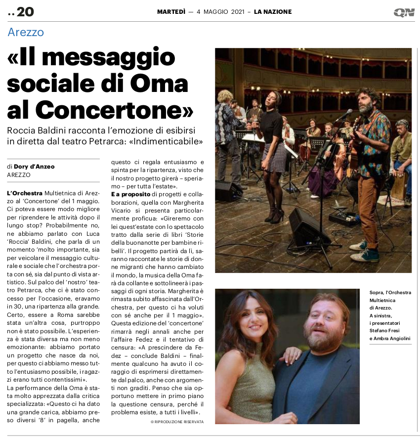"""""""Il messaggio sociale di Oma al Concertone"""""""